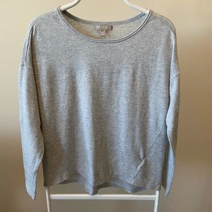 Women's Banana Republic Gray Mesh Sweater